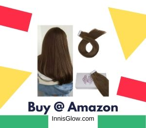 Moresoo 20 inch Real Hair Extensions Clip in Off Black
